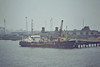 1974 to 2010 - SAND SERIN - Suction Dredger - 1219GRT/2120DWT - 66.6 x 12.2 - 1974 Clelands Shipbuilders, Wallsend, No.329 - 2010 SWAT LINKS 9 - Felixstowe, discharging at Landguard Point, 08/81.