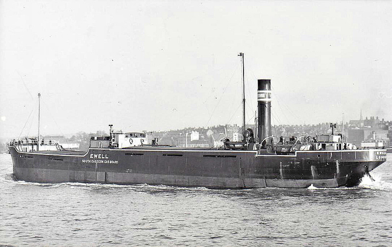 1926 to 1958 - EWELL - Cargo - 1334GRT - 68.9 x 11.1 - 1926 Burntisland Shipbuilding Co., No.138 - 1958 EWELL II, 1958 reduced to grain lighter, CANDIANO - fate unknown.