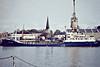 1977 to 1987 - ICE LARK - Chemical Tanker - 689GRT/952DWT - 57.0 x 11.2 - 1966 Valmet OY, Hewlsinki, No.236 as FINNLARK (1966-77) - 1987 SANDLARK, 1992 SILVERLARK. 1994 SANDLARK, 1998 SW TRADER, 2000 SANDLARK - 2004 broken up at 'sGravendeel - Kings Lynn, Alexandra Dock, unloading into road tankers, 04/82.