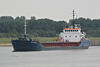 2004 to DATE - SEA KESTREL - Cargo - 1382GRT/2225DWT - 77.7 x 11.8 - 1993 Yorkshire Drydock Co., Hull, No.328 as HOO KESTEL (1993-2003) - UNION SAPPHIRE (2003-04) - still trading - Terneuzen, outward bound from Gent, 19/06/12.