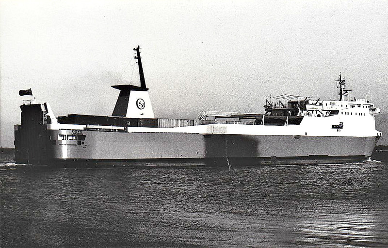1977 to 1979 - GOYA - RoRo/Cargo - 3809GRT/6400DWT - 144.1 x 18.1 - 1977 Werft Nobiskrug, Rendsburg, No.709 - 1979 FEDERAL NOVA, 1981 CARIBBEAN SKY, 1981 MANAURE VII, 1983 OYSTER BAY, 1983 VIKING TRADER, 1996 LEOPARD, 1998 EUROPEAN NAVIGATOR, 2003 BLACK IRIS (JOR) - still trading.