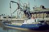 1982 to 1998 - FREDA W (London) - 428GRT/645DWT - 47.8 x 8.8 - 1974 Scheeps Gebr Coops, Hoogezand, No.264 as EDWARD BROUGH (1974-82) - 1998 SEA SPRAY (GUY) - still trading - Wisbech, unloading soya meal at Tradax, 07/84.