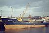 1982 to 2000 - ELLEN W - Cargo - 428GRT/645DWT - 47.8 x 8.8 - 1974 Scheeps Bodewes, Bergum, No.171 as GUY CHIPPERFIELD (1974-82) - 2000 EILEEN H, 2004 MARINA EXPRESS, 2007 MAYUMBA EXPRESS (CAM) - still trading - seen here at Wisbech unloading fertiliser, 11/83.