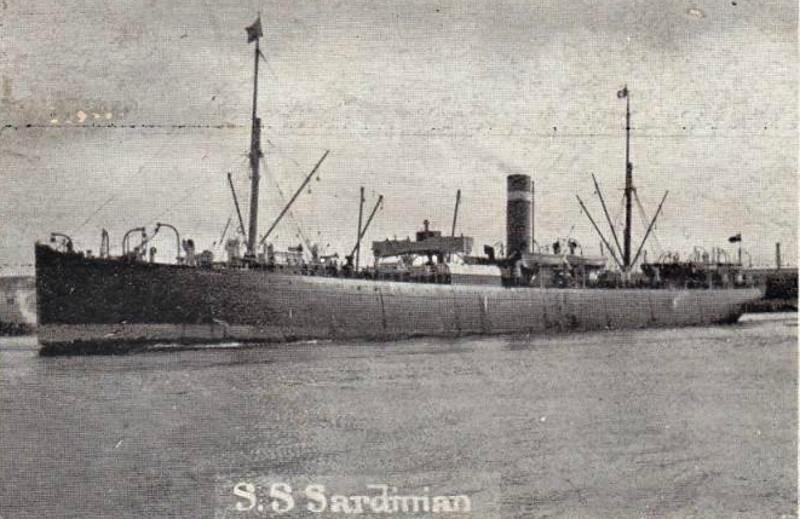 1874 to 1921 - SARDINIAN - Pass/Cargo - 4384GRT - 121.9 x 12.9 - 1874 R Steele & Co., Cartsburn, No.81 - 07/21 hulked at Vigo, 06/38 broken up at Bilbao - posted April 19th, 1905.