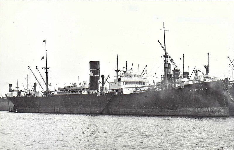 1918 to 1952 - CAIRNVALONA - Cargo - 4929GRT/7853DWT - 126.6 x 16.2 - 1918 Sunderland Shipbuilding Co., South Dock, No.314 - 06/52 broken up at Dunston on Tyne.