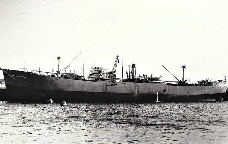 1940 to 1950 - RICHMOND HILL - Cargo - 7579GRT/11137DWT - 132.3 x 18.4 - 1940 Bartram & Sons, South Dock, No.284 - 1950 LONDON CRAFTSMAN, 1951 ITALGLORIA, 1951 FIDUCIA,1960 SEARAVEN - 07/66 broken up at Yokosuka.