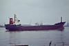 1978 to 1987 - MARKINCH - Cargo - 1592GRT/3256DWT - 91.5 x 13.3 - 1978 Appledore Shipbuilders, No.119 - 1987 PYRGOS, 1993 PYRGOS STAR, 1994 AO XIANG, 2001 YA MEI, 2003 KING LUCK, 2003 RICH RIVER, 2008 SUN FLORA (MNG) - Northfleet, outward bound from Bevans Jetty in ballast, 10/82.