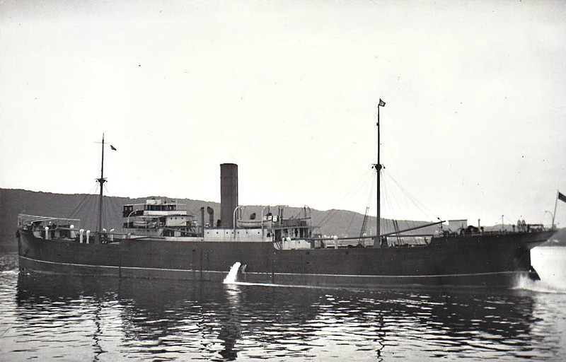 1911 to 1939 - CAPE ORTEGAL - Cargo - 4896GRT - 123.4 x 16.0 - 1911 Russell & Co., Port Glasgow, No.611 - 08/09/39 scuttled as a blockship in Skerry Sound, Scapa Flow.