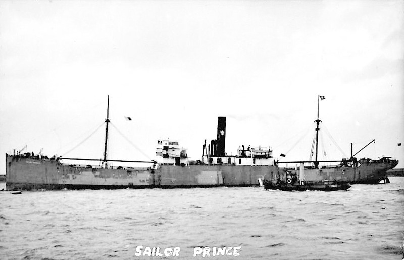 1921 to 1936 - SAILOR PRINCE - Cargo - 4169GRT - 114.9 x 15.1 - 1907 Charles Connell & Co., Scotstoun, No.316 as GLENDEVON (1907-21) - 03/36 broken up at Rosyth.