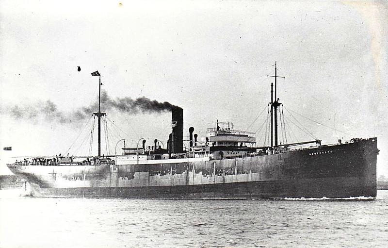1926 to 1946 - SOUTHGATE (London) - Cargo - 4862GRT/8962DWT - 1926 Readhead & Co., South Shields, No.482 - 121.9 x 16.8 - 1946 OTTEID, 1947 DIMITRIOS A KYDONIEFS - 02/60 broken up in Hong Kong.