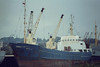 1963 to 1980 - WAREN - Cargo - 617GRT/840DWT - 59.4 x 9.8 - 1963 Peenewerft, Wolgast, No.90 - Type Kumo 840 - 1980 SEA CARRIER, 1981 SEA CARRIER I, 1981 BETTY S - 21/12/82 sank in tow 70nm north of Gijon, Aveiro for Rochester with rolls of paper - seen here as BETTY S (PAN) at wisbech unloading soya meal, 10/81.