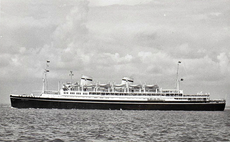 1936 to 1969 - BATORY - Passenger - 14387GRT - 152.0 x 21.6 - 1936 Cantieri Reuniti Adriatico, Monfalcone, No.1127 - 1969 converted to hostel, 05/71 broken up in Hong Kong.