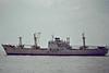 1961 to 1988 - NOVI VINODOLSKI - Cargo - 4715GRT/6393DWT - 136.4 x 18.3 - 1961 Brodosplit, No.166 - 1988 NOVI - 05/89 broken up at Alang - seen here passing Felixstowe, outward bound from Ipswich, 05/84.