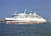 1975 to 1993 - ARMORIQUE - Pass/RoRo - 5731GRT/1168DWT - 116.6 x 19.2 - 1972 Chantiers Nouvelle du Havre, Le Havre, No.205 as TERJE VIGEN (1972-75) - 1993 MIN NAN, 1998 SHENG SHENG, 2005 TIRTA KENCANA I, 2009 MUSTIKHA KENCANA II - 04/07/11 fire 20nm northwest of Madura Island, Surabaya-Pelabuhan Makassar, 05/07/11 sank.