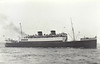 Belfast SS Co. - 1930 to 1950 - ULSTER QUEEN - Passenger - 3791GRT/901DWT - 105.5 x 14.1 - 1930 Harland & Wolff, Belfast, No.696 - new to Liverpool/Belfast service - 04/50 broken up at Antwerp - seen here on the rocks at Maughold Head, Isle of Man, 28/02/40, having run aground in thick fog, refloated one month later. .