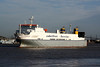 1997 to DATE - CLEMENTINE - Roro Cargo - 23987GRT/9655DWT - 162.5 x 25.6 - 1997 Kawasaki Zosensho, Sakaide, No.1466 - inbound from Zeebrugge to Purfleet, 17/11/09.