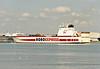 2002 to DATE - LOUISE RUSS - Cargo/RoRo - 18265GRT/8800DWT - 174.0 x 25.5 - 2000 JJ Sietas Schiffswerft, Hamburg, No.1145 as LOUISE RUSS (2000-01) - PORTO EXPRESS (2001) - Ernst Russ - Gravesend, inward bound for Purfleet, 20/02/08 - on charter to Cobelfret from 2002.