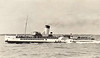 1908 to 1957 - EMPEROR OF INDIA - Passenger - 428GRT - 59.6 x 7.7 - 1906 Thornycroft & Co., Woolston, No.430 as PRINCESS ROYAL (1906-08) - 05/16 to Royal Navy as Auxilary Patrol Vessel, renamed EMPEROR OF INDIA II, 1918 MAHRATTA, 1920 returned to owners, 12/39 to Royal Navy as Minesweeper, 11/40 AA Ship, 1943 Accommodation Ship, 1944 BUNTING, 1946 returned to owners, converted to oil fuel, 1948 returned to service - 01/57 broken up at Bruges - seen here after 1946 rebuild.