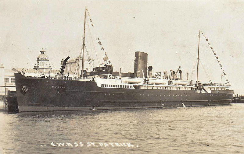 1930 to 1941 - ST PATRICK - Passenger - 1922GRT - 85.7 x 12.5 - 1930 AJ Stephen & Co., Linthouse, No.525 - 913 passengers - 13/06/41 bound for Fishguard, sunk by bombs from German a/c, 10 passngers and 19 crew dead.