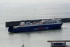 2010 to 2012 - NORMAN BRIDGE - Pass/Roro - 22046GRT/6300DWT - 180.0 x 25.0 - 1999 Astilleros Espanoles, Seville, No.288 as BRAVE MERCHANT (1999-2008) - AVE LIEPAJA (2008-10) - 12 ARV3, 2013 AQUARIUS BRAZIL (PRT) - turning to go onto its berth from Boulogne at Dover, 28/07/10