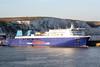 2010 to 2012 - NORMAN BRIDGE - Pass/Roro - 22046GRT/6300DWT - 180.0 x 25.0 - 1999 Astilleros Espanoles, Seville, No.288 as BRAVE MERCHANT (1999-2008) - AVE LIEPAJA (2008-10) - 12 ARV3, 2013 AQUARIUS BRAZIL (PRT) - at Dover from Boulogne, 22/04/10
