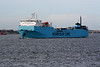2000 to 2010 - MAERSK ANGLIA - Cargo/RoRo - 13073GRT/4650DWT - 142.5 x 23.5 - 2000 Gunagzhou International Shipyard, No.7130011 - 2010 ANGLIA SEAWAYS (DMK) - Felixstowe, outward bound for Vlaardingen, 20/01/09.