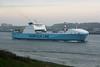 2005 to 2010 - MAERSK VOYAGER - Roro Cargo - 22900GRT/14200DWT - 193.0 x 26.0 - 2000 Flensburger Schiffs, No.712 as UND KARADENIZ (2000-05) - 2010 ELYSSA (TUN) - inward bound for Vlaardingen on the New Waterway, 22/04/09.
