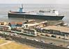 1975 to 1998 - BUFFALO - Cargo/RoRo - 3484GRT/5805DWT - 125.0 x 19.1 - 1975 JJ Sietas Schiffswerft, Hamburg, No.756 - 1988 Lengthened to 141.8m, 10987GRT/4377DWT, converted to Pass/RoRo, 1998 Lengthened to 156.5m, 12879GRT/3933DWT - 1998 EUROPEAN LEADER, 2004 STENA LEADER,2011 ANNA MARINE - 02/14 broken up at Aliaga - seen here passing Blackpool bound for Fleetwood.