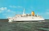 1978 to 1984 - PRINZ OBERON - Pass/RoRo - 7933GRT/1774DWT - 134.0 x 21.0 - 1978 Werft Nobiskrug, Rendsburg, No.663 as PRINS OBERON (1970-78) - new to Bremerhaven/Harwich service - 1984 NORDIC SUN, 1986 CRUISE MUHIBAH, 1989 MUNSTER, 1993 AMBASSADOR, 1994 AMBASSADOR II (BHS) - still trading.