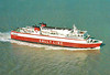 1986 to 1988 - VIKING 2 - Pass/RoRo - 5314GRT/3000DWT - 123.0 x 20.5 - 1976 Schiffs Schichau Unterweser, Bremerhaven, No.2269 as GEDSER (1976-86) - 1990 Lg 143.8/133.5m, 14558gt/4150dw] - 1988 SALLY SKY, 1990 lengthened to 143.8m, 14558GRT/4150DWT, 1997 EUROTRAVELLER, 1999 LARKSPUR (CYP) - still trading -