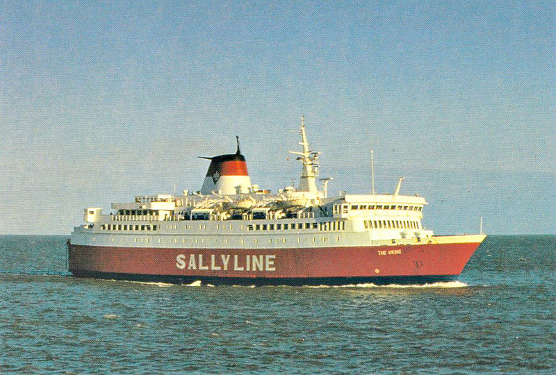 1983 to 1989 - THE VIKING - Pass/RoRo - 4371GRT/1489DWT - 118.0 x 18.9 - 1974 Schiffs Unterweser, Bremerhaven, No.2255 as KALLE III (1974-83) - 1989 WASA PRINCE, 1991 PRINCE, 1991 PEDER OLSEN, 2000 MOBY LALLY (ITA) - still trading.