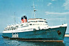 1959 to 1982 - MAID OF KENT - Pass/RoRo - 4413GRT/917DWT - 113.7 x 18.4 - 1959 W DEnny & Bros., Dumbarton, No.1492 - 1000 passengers, 190 cars - new to Dover/Boulogne service - 04/82 broken up at San Esteban de Pravia.