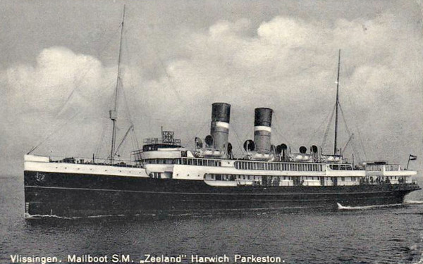1920 to 1940 - PRINSES JULIANA - Passenger - 2908GRT - 106.8 x 13.0 - 1920 Royal Schelde Dockyard, Vlissingen, No.171 - 246 passengers - 12/05/40 hit by aircraft bombs 1km off the North Pier, Hook of Holland, beached just inside the New Waterway.