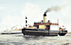 1927 to 1965 - MIMIE - Vehicle Ferry - 464GRT - 44.3 x 11.9 - 1927 Ferguson Bros., Shipbuilders, Port Glasgow, No.286 - 300 passengers, 36 cars - Tilbury/Gravesend service - 1961 vehicle service ceased - 05/65 broken up at Bruges.