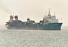 ARCO ADUR (Southampton) - IMO8700814 - Aggregates Dredger - GBR/5360/88 Appledore Shipbuilders, No.144 - 98.3 x 17.7 - Hanson Aggregates Co. - Felixstowe, inward bound for Harwich for a crew change, 10/06/07.