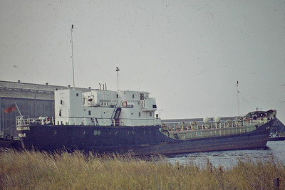 ANGLEZARKE (Goole) - IMO9249560 - Tanker - 654GRT/854DWT - 62.8 x 8.9 - 1956 Schlichting Werft, Travemunde, No.1266 as NESSAND (1956-67) - OTTO (1967-68), OTTO TERKOL (1968-71), MABULI (1971-75) - 07/88 broken up at Garston - seen here at Goole, 08/84.