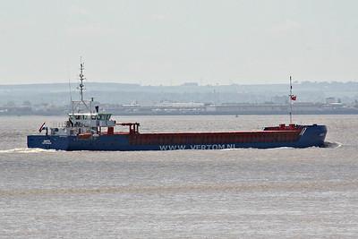 ANITA (Rotterdam) - IMO9479577 - Cargo - NLD/2625/13 Ceske Usti Shipyard, No.9380 - 87.5 x 11.3 - Vertom Shipping, Rhoon - Paull, inward bound for King George V Dock, Hull, from Ghent, 18/06/14.
