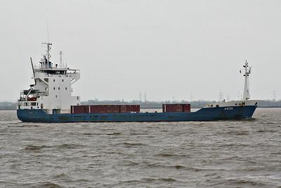 ANJA (Heerenveen) - IMO9116187 - Cargo - NLD/4622/95 JJ Sietas Schiffswerft, Hamburg, No.1113 - 100.0 x 16.7 - Holwerda Shipping - Paull, inward bound for King George V Dock from Oxelosund, 07/04/14.