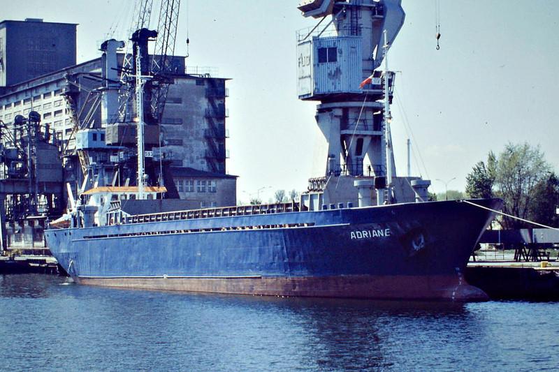 ADRIANE (Thisted) - IMO7001364 - Cargo - DMK/1280/69 Schiffs Bayerishe, Erlenbach, No.1011 - 69.8 x 11.6 - Partrederei Adriane - Gdansk, 11/05/08.