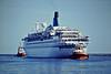 ALBATROS (Nassau) - IMO7304314 - Passenger - BHS/5936/73 Wartsila OY, Helsinki, No.397 - 205.5 x 25.2 - V Ships Leisure - Gdansk, just off her berth outward bound, 14/05/08.