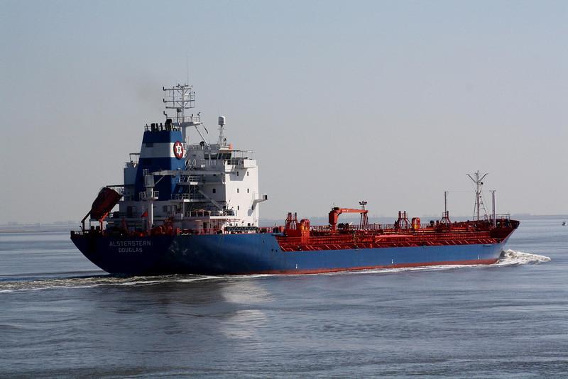 ALSTERSTERN (Douglas) - IMO9053220 - Tanker - IOM/17080/94 Mathias Thysen Werft, Wismar, No.130 - 161.4 x 23.0 - Rigel Schiffs, Bremen - Terneuzen, inward bound for Antwerp, 17/04/10.