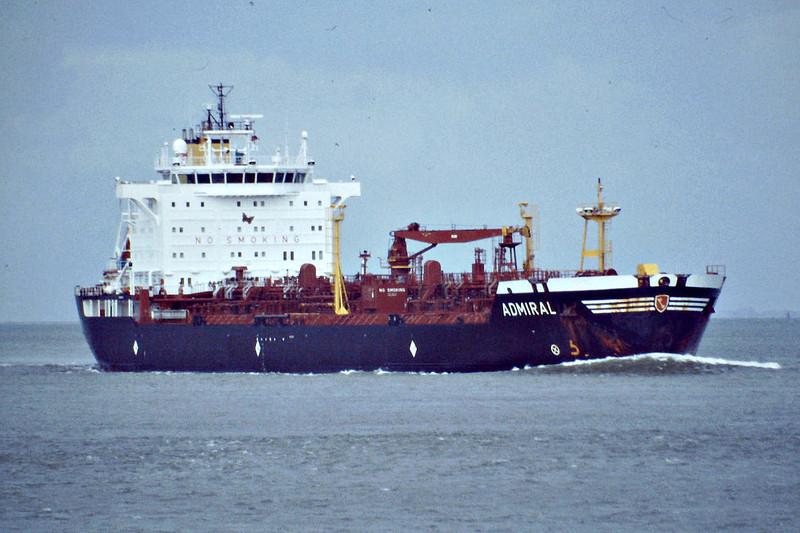 ADMIRAL (Gibraltar) - IMO9234616 - Tanker - GIB/23998/02 Brodogradiliste 3 Maj, Rijeka, No.680 - 168.0 x 26.4 - Carl Buttner Tankers - still trading - Terneuzen, inward bound for Antwerp Docks, 08/09/08.