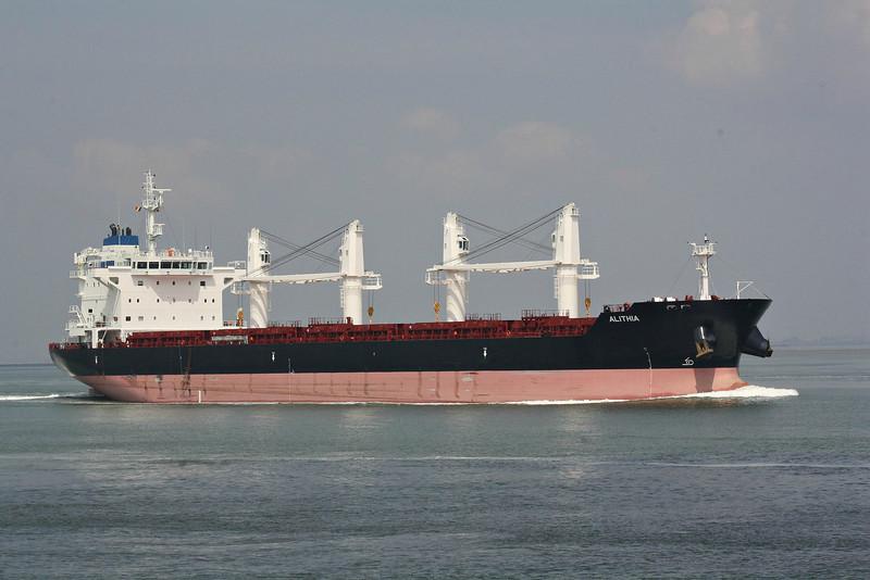 ALITHIA (Valletta) - IMO9595840 - Bulk Carrier - MLT/34022/12 Hyundai Mipo Shipbuilders, Ulsan, No.6060 - 180.0 x 30.0 - Alloceans Shipping Co., Athens - Terneuzen, inward bound for Antwerp, 19/06/12.
