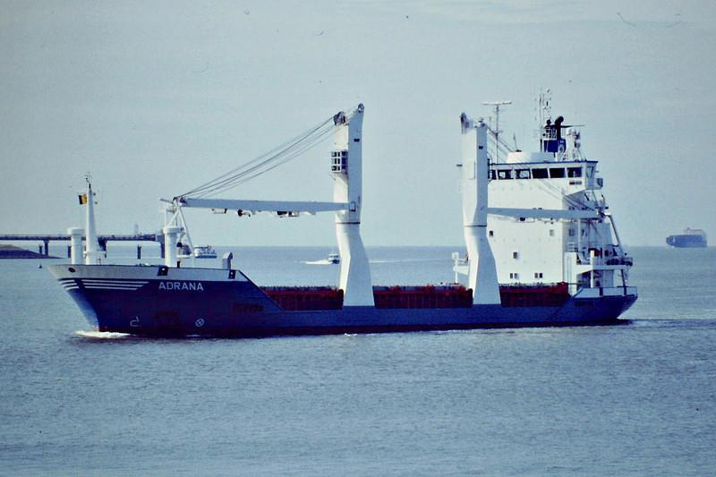ADRANA (Gibraltar) - IMO9157143 - Cargo - GIB/6366/97 Schiffs Higo Peters, Wewelsfleth, No.652 - 100.0 x 17.2 - Boese Bereederung, Haren Ems - still trading - Terneuzen, inward bound for Ghent, 09/09/08.