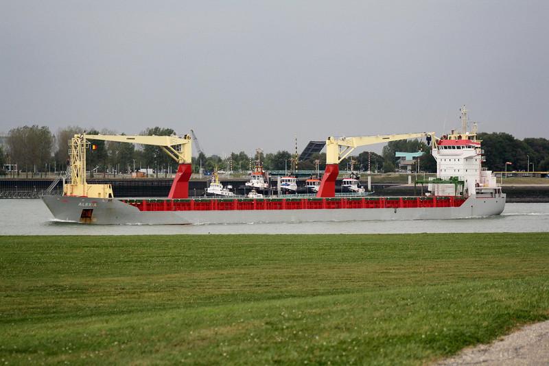 ALEXIA (Willemstad) - IMO9369083 - Cargo - ANT/11149/08 Scheeps Damen, Gorinchen, No.567303 - 145.6 x 18.3 - Transship Shipping BV - Terneuzen, outward bound from Gent, 16/09/09.