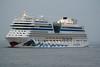 AIDABLU (Napoli) - IMO9398888 - Cruise Liner - ITA/7889/10 Schiffs Jos L Meryer, Papenburg, No.680 - 253.3 x 32.2 - Aida Cruises, Rostock - Terneuzen, outward bound from Antwerrp, 14/04/10.