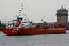 ALCEDO (Dordrecht) - IMO9190315 - Tanker - NLD/2831/99 Scheeps Breko, Papendrecht, No.9802 - 90.0 x 12.3 - Essberger Tankers - Zandvliet, inward bound for Antwerp Docks, 25/04/09.