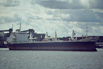 AEGIS PRACTIC (Piraeus) - IMO7387146 - Cargo - GRC/20950/76 Astilleros Espanoles, Olaveaga, No.290 - 1984 SEMI II, 1986 OCEAN LAKE - 04/99 broken up at Gadani Beach - Tilbury, inward bound from Thames Refinery Jetty, 09/81.