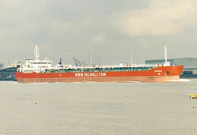 AGDASH (Valletta) - IMO9435325 - Tanker - MLT/13030/07 Krasnoye Sormovo Shipyard, Nizhny Novgorod, No.07008 - 150.2 x 17.3 - Palmali Shipping, Istanbul - outward bound at Gravesend, 16/04/08.