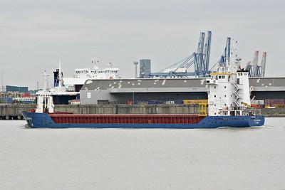 AB LIVERPOOL (St Johns) - IMO9125683 - Cargo - ATG/4224/96 Scheeps Damen, Foxhol, No.714 - 89.9 x 13.2 - Bockstiegel Reederei, Emden - Northfleet, inward bound for Conway's Berth from Belfast, 10/06/13.